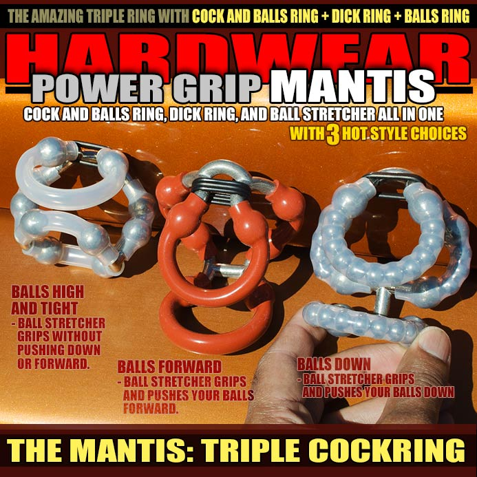 THE MANTIS: TRIPLE COCK RING - allknight.com: The Scorpion Triple Cock Ring by Hardwear is designed to get you super strong erection, improved staying power, and also to be fantastic as an ADR (All Day Cock Ring). Amazingly Sexy, The Scorpion is the ultimate 3-in-1 male enhancing ring.