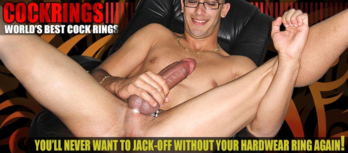 Cockring masturbation