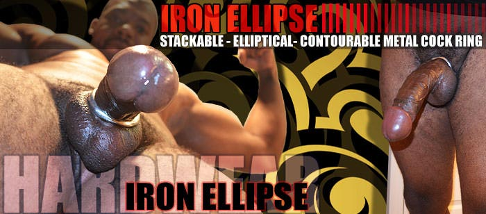 Allknight Iron Ellipse, Stackable, Contourable, Elliptical Ring