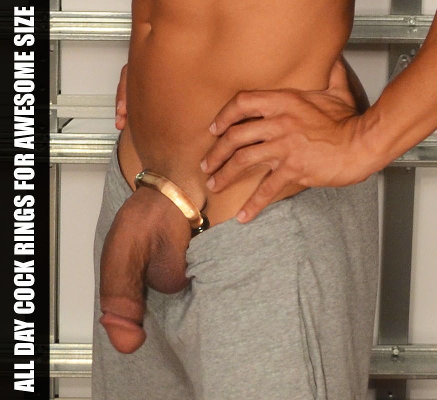 Looks hot right? All Day Cock Rings feel amazing too… the added weight between your legs. A kick ass bulge, higher testosterone levels, and penis growth over time are among the other benefits.
