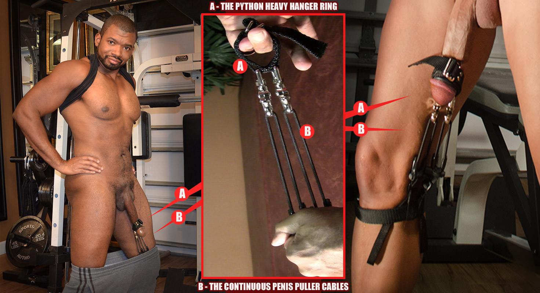 Deluxe beginner penis weight hanger hanging system for male enhancement